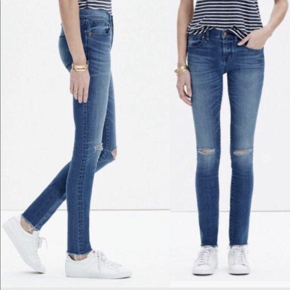7735f79285e Madewell Denim - Madewell Skinny Skinny Ankle Distressed Jeans 26